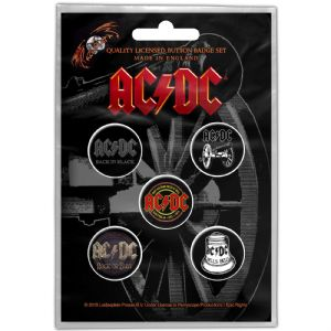 AC/DC 5 Pin Badges in Pack Later Albums (ro)